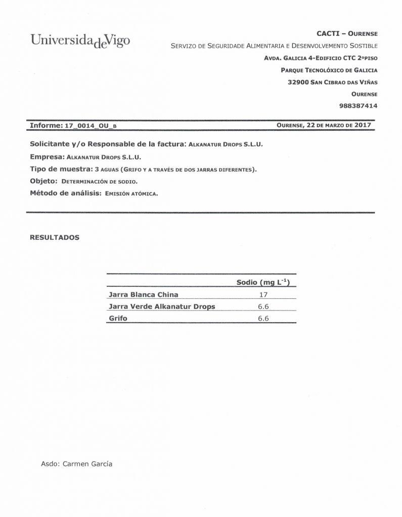 Certificado Jarra Alkanatur libre de Sodio