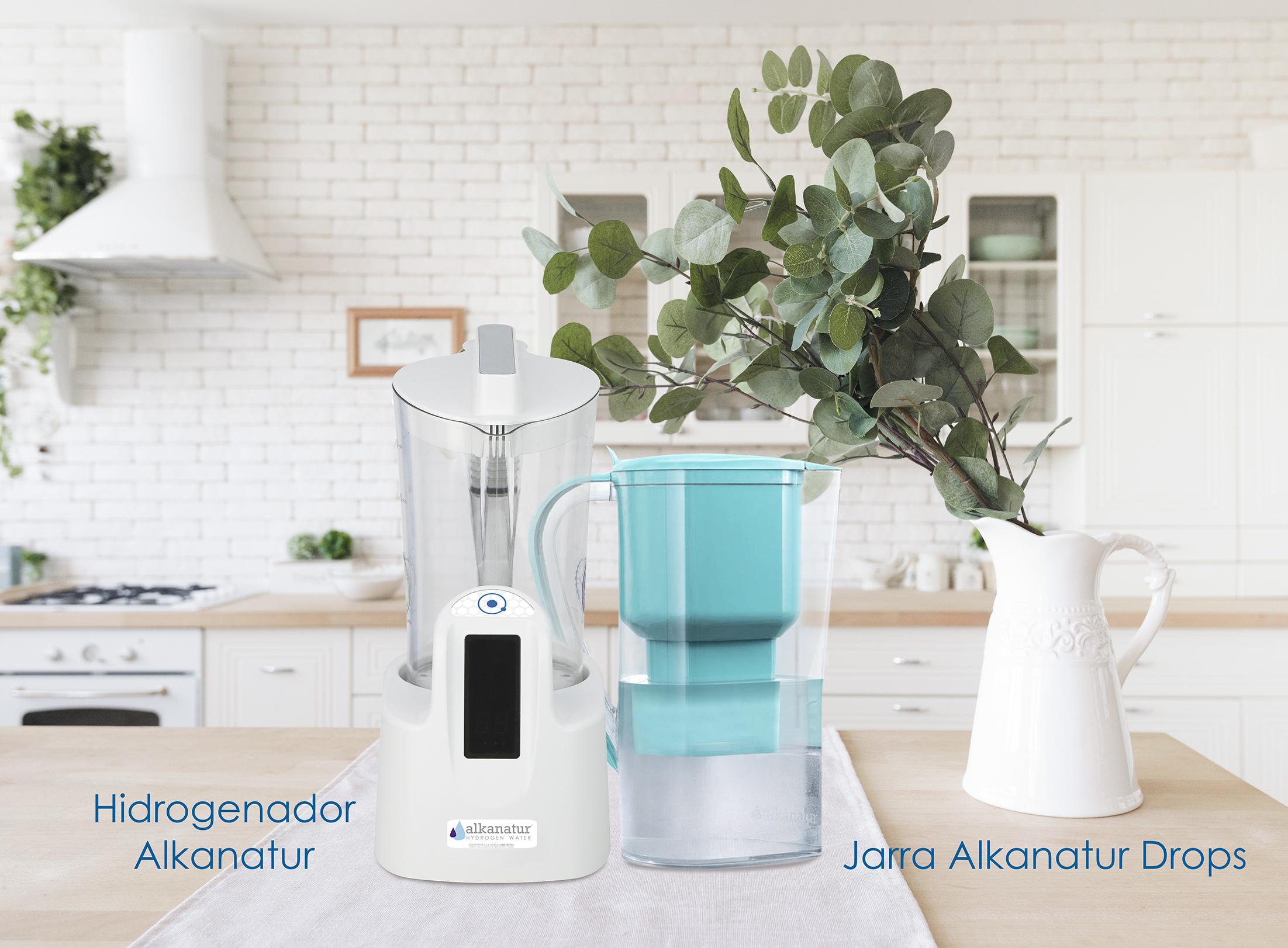Hidrogenerador de agua - Jarra alcanizadora de agua Alkanatur